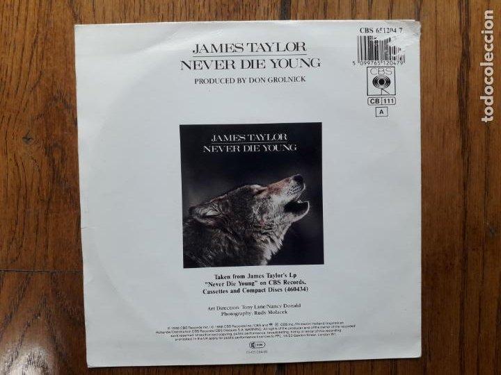 Discos de vinilo: James Taylor - never die young + valentines day - Foto 2 - 254159485