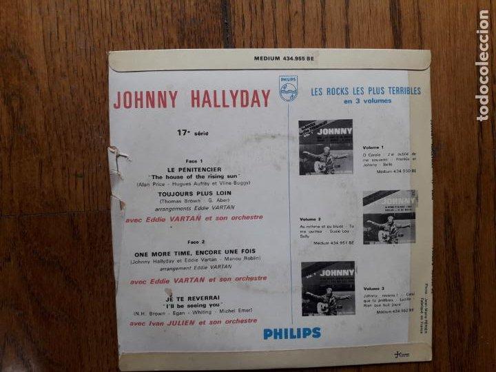 Discos de vinilo: Johnny hallyday - le penitencier + toujours plus loin + one more, encore une fois + je te reverrai - Foto 2 - 254162050