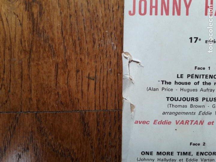 Discos de vinilo: Johnny hallyday - le penitencier + toujours plus loin + one more, encore une fois + je te reverrai - Foto 3 - 254162050