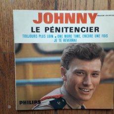 Discos de vinilo: JOHNNY HALLYDAY - LE PENITENCIER + TOUJOURS PLUS LOIN + ONE MORE, ENCORE UNE FOIS + JE TE REVERRAI. Lote 254162050