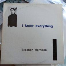Discos de vinilo: STEPHEN HARRISON - I KNOW EVERYTHING (TEL QUEL , UK, 1988). Lote 254162230
