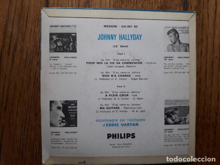 Discos de vinilo: Johnny hallyday - pour moi la vie va commencer + rien na change + a plein coeur + ma guitare - Foto 2 - 254165475
