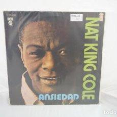 Discos de vinilo: VINILO 12´´ - LP - NAT KING COLLE - ANSIEDAD / CAPITOL. Lote 254169955