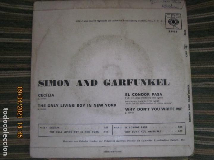Discos de vinilo: SIMOND AND GRAFUNKEL - CECILIA EP - ORIGINAL PORTUGUES - CBS RECORDS 1972 - MONOAURAL - Foto 2 - 254170620