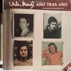 Discos de vinilo: *** VICTOR MANUEL - AÑO TRAS AÑO (20 VERSIONES ORIGINALES) - DOBLE LP AÑO 1982 - LEER DESCRIPCIÓN. Lote 254172515
