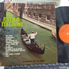 Discos de vinilo: GINO GIANINNI LP AL ESTILO ITALIANO ESPAÑA 1977. Lote 254174495