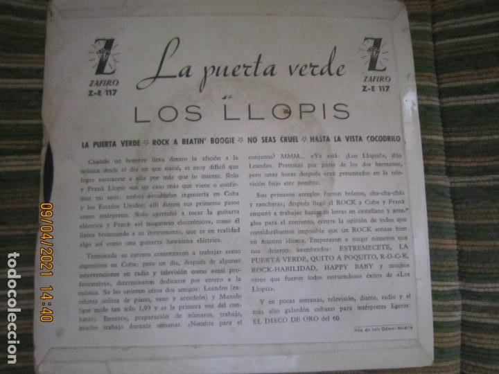 Discos de vinilo: LOS LLOPIS - LA PUERTA VERDE EP - ORIGINAL ESPAÑOL - ZAFIRORECORDS 1960 - MONOAURAL - Foto 2 - 254177440