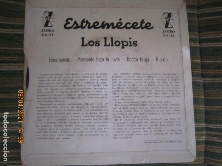 Discos de vinilo: LOS LLOPIS - ESTREMECETE EP - ORIGINAL ESPAÑOL - ZAFIRO RECORDS 1960 - MONOAURAL. - Foto 2 - 254178370