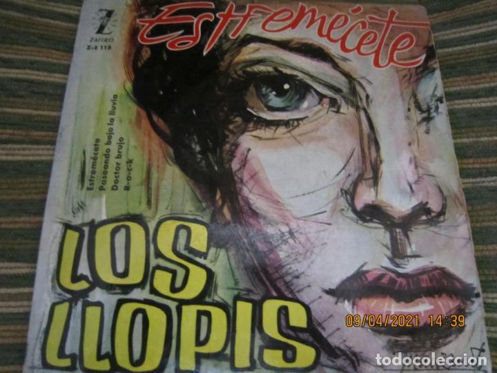 LOS LLOPIS - ESTREMECETE EP - ORIGINAL ESPAÑOL - ZAFIRO RECORDS 1960 - MONOAURAL. (Música - Discos de Vinilo - EPs - Rock & Roll)