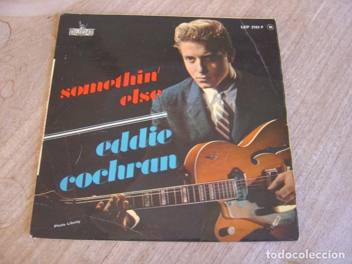 EP 45 RPM. EDDIE COCHRAN. - SOMETHIN' ELSE - LIBERTY. PROBADO. (Música - Discos de Vinilo - EPs - Rock & Roll)