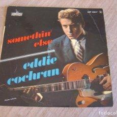 Discos de vinilo: EP 45 RPM. EDDIE COCHRAN. - SOMETHIN' ELSE - LIBERTY. PROBADO.. Lote 254186375
