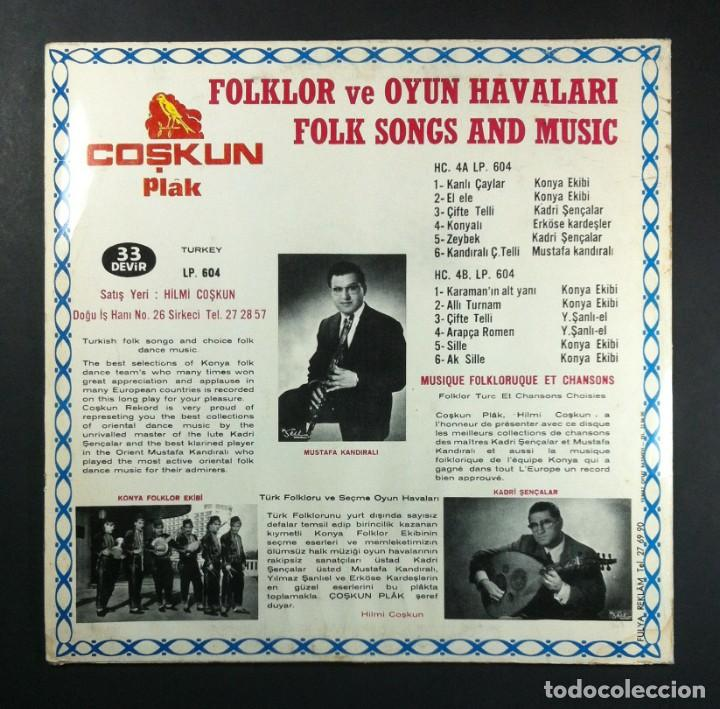 Discos de vinilo: VARIOS - Folklor Ve Oyun Havalari: Folk Songs And Music - LP TURCO - COSKUN - Foto 3 - 254198810