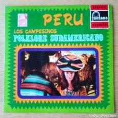 """Discos de vinilo: LOS CAMPESINOS: """"PERU"""" . LP VINILO - VINYL LP. FOLK PERU 1970. Lote 254199950"""