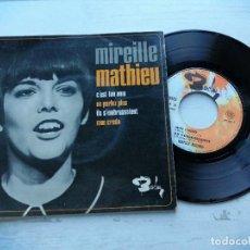 Discos de vinilo: MIREILLE MATHIEU – C'EST TON NOM + 3 EP FRANCIA 1966 VG/VG. Lote 254201675