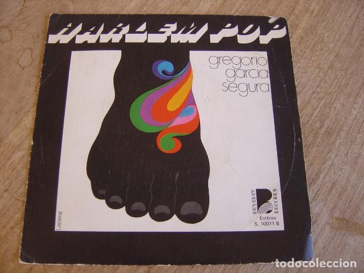 RARO SINGLE GREGORIO GARCIA SEGURA. HARLEM POP/DISTORSIONANDO. BEVERLY RECORDS. 1976. PROBADO. (Música - Discos de Vinilo - EPs - Grupos Españoles de los 70 y 80)