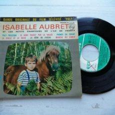 Discos de vinilo: ISABELLE AUBRET – POLY-POLISSON + 5 EP FRANCIA 1961 VINILO VG/PORTADA VG++. Lote 254202675