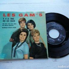 Discos de vinilo: LES GAM'S – IL A LE TRUC + 3 EP FRANCIA VINILO EX/ PORTADA VG++. Lote 254203260