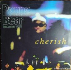"Discos de vinilo: 12"" PAPPA BEAR FEAT. VAN DER TOORN - CHERISH - UNIVERSAL 9802 - ITALY PRESS - MAXI (EX-/EX). Lote 254204450"