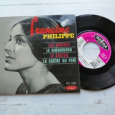 Discos de vinilo: FRANCINE PHILIPPE – LES NAVIRES + 3 EP FRANCIA 1964 EX/EX. Lote 254205175