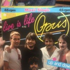 Discos de vinilo: OPUS LIVE IS LIFE 1ERA ED. Lote 254205680