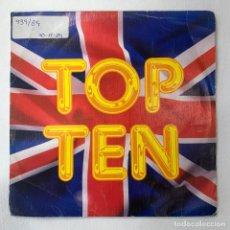 Discos de vinilo: SINGLE TOP TEN - LIPS KISS / CAPPELLA / LOCOMÍA / RAUL ORELLANA /CAROLINE DAMAS - ESPAÑA - AÑO 1989. Lote 254214685