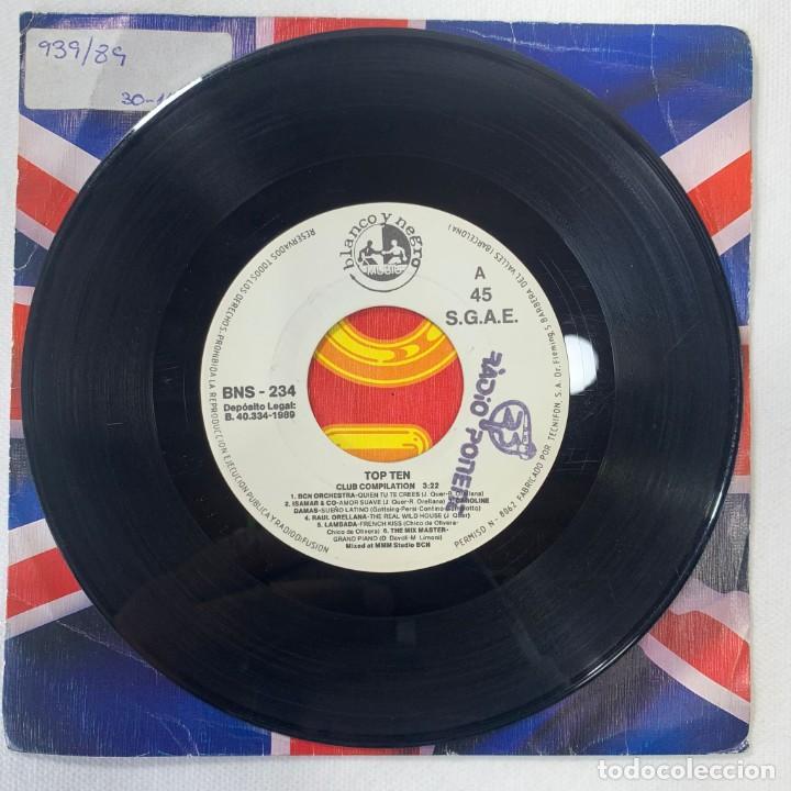 Discos de vinilo: SINGLE TOP TEN - LIPS KISS / CAPPELLA / LOCOMÍA / RAUL ORELLANA /CAROLINE DAMAS - ESPAÑA - AÑO 1989 - Foto 2 - 254214685