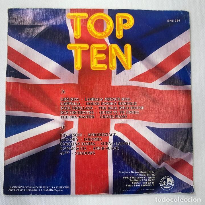Discos de vinilo: SINGLE TOP TEN - LIPS KISS / CAPPELLA / LOCOMÍA / RAUL ORELLANA /CAROLINE DAMAS - ESPAÑA - AÑO 1989 - Foto 4 - 254214685