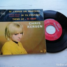 Discos de vinilo: CHRIS KERSEN – N°7 EP FRANCIA 1964 VG/VG. Lote 254217980