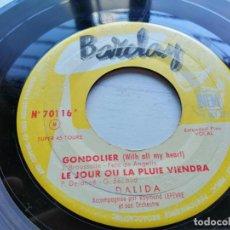 Discos de vinilo: DALIDA ACCOMPAGNÉE PAR RAYMOND LEFÈVRE ET SON ORCHESTRE* – 8 - GONDOLIER 1957 EP FRANCIA G+. Lote 254219065