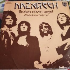 "Discos de vinilo: NAZARETH - BROKEN DOWN ANGEL / WITCHDOCTOR WOMAN (7"") SELLO:PHILIPS 60 00 113.COMO NUEVO.MINT/NM. Lote 254219205"