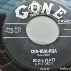 Discos de vinilo: EDDIE PLATT & HIS ORCH.* – CHA-HUA-HUA USA SINGLE 1958 VG. Lote 254220995