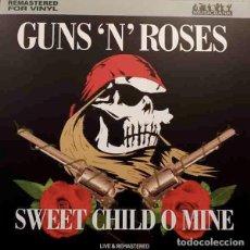 Discos de vinilo: GUNS N' ROSES SWEET CHILD O MINE (LP) . VINILO HARD ROCK SLASH AXL ROSE LIVE. Lote 254222680