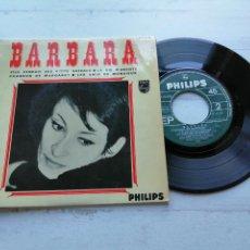 Discos de vinilo: BARBARA (5) – ELLE VENDAIT DES P'TITS GÂTEAUX + 3 EP FRANCIA 1968 VINILO VG+/PORTADA VG++. Lote 254223290