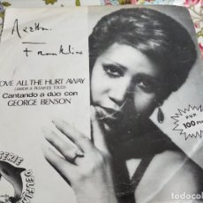 "Discos de vinilo: ARETHA FRANKLIN & GEORGE BENSON - LOVE ALL THE HURT AWAY (7"") ARISTA B-103309.BUEN ESTADO.VG+++/ VG+. Lote 254224890"