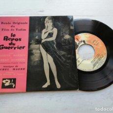 Discos de vinilo: MICHEL MAGNE – LE REPOS DU GUERRIER (BANDE ORIGINALE DU FILM) BRIGITTE BARDOT COVER VG++/VG++. Lote 254226795
