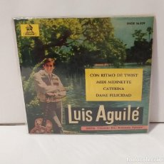 Discos de vinilo: LUIS AGUILÉ 1963 CON RITMO DE TWIST, MIDI MIDIETTE, CATERINA, DAME FELICIDAD. Lote 254227765
