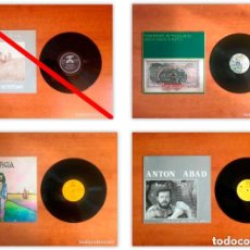 Discos de vinilo: LOTE 3 DISCOS CANTAUTOR FOLK ANTON ABAD SISA ORGIA TRAPPIST AFTERLAND. Lote 225303045