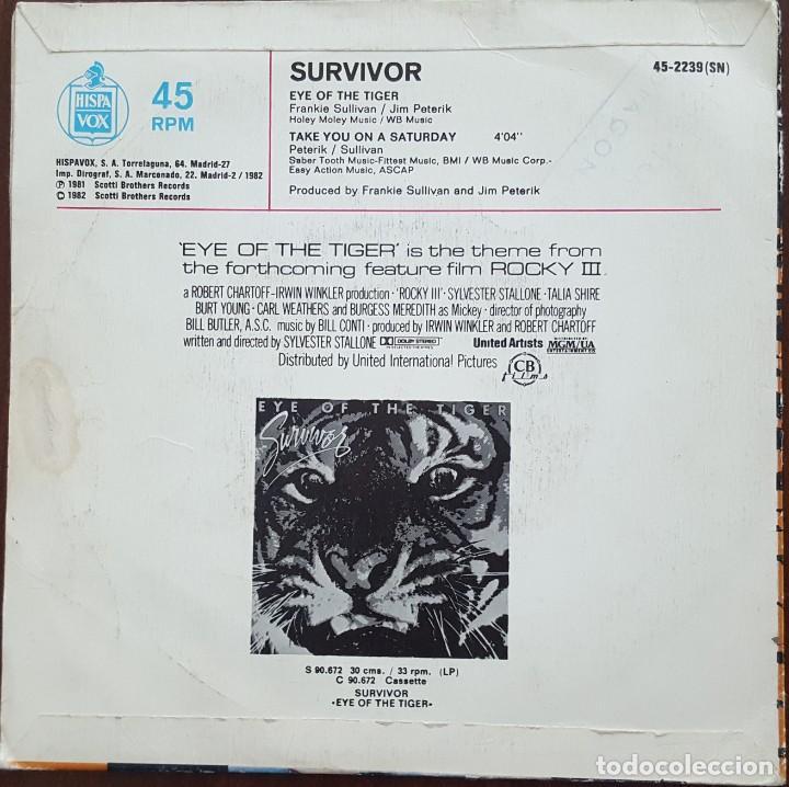 Discos de vinilo: SINGLE / SURVIVOR - EYE OF THE TIGER (TEMA DE ROCKY III), 1982 - Foto 2 - 254252795