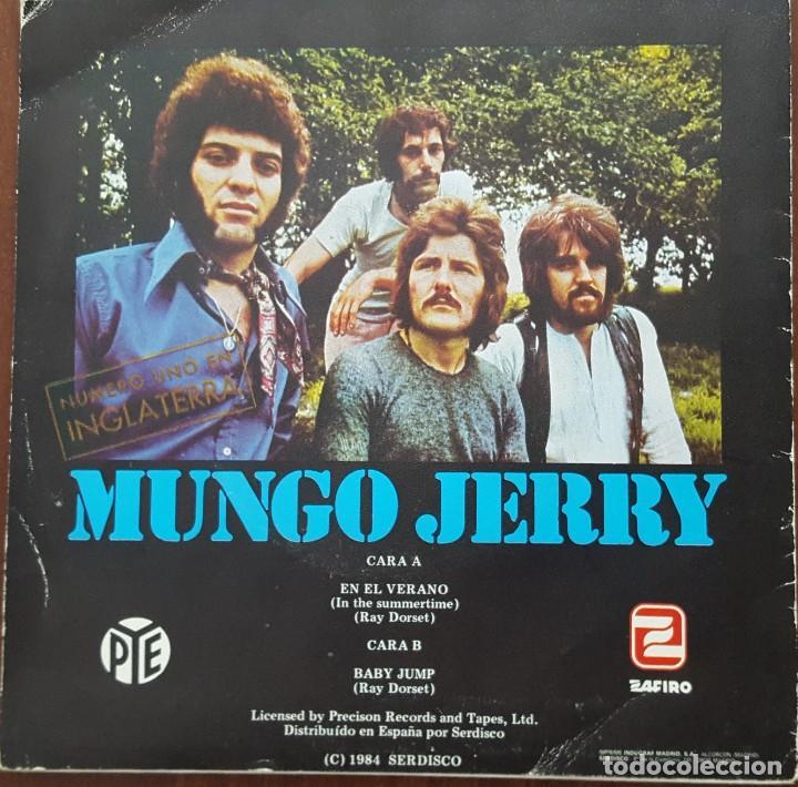 Discos de vinilo: SINGLE / MUNGO JERRY - IN THE SUMMERTIME (EN EL VERANO), 1984 - Foto 2 - 254253305