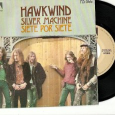 Discos de vinilo: HAWKWIND. SILVER MACHINE. (VINILO SINGLE 1972). Lote 254253985