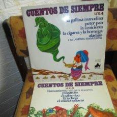 Discos de vinilo: CUENTOS INFANTILES DOS LPS. Lote 254257545