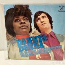 Discos de vinilo: DANNY & DONNA 1971 EL VALS DE LAS MARIPOSAS. Lote 254258440