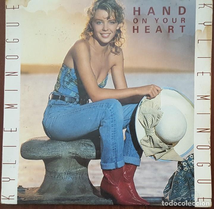 SINGLE / KYLIE MINOGUE - HAND ON YOUR HEART, 1989 UK (Música - Discos de Vinilo - Singles - Pop - Rock Internacional de los 80)