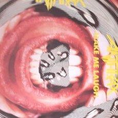 Discos de vinilo: ANTHRAX MAKE ME LAUGH ,FRIGGIN IN THE RIGGIN ,ANTISOCIAL + POSTER. Lote 254261145
