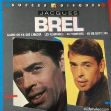 Discos de vinilo: JACQUES BREL - SUCCES 2 DISQUES. Lote 254262970