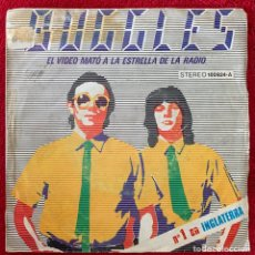 Discos de vinilo: BUGGLES. EL VIDEO MATO A LA ESTRELLA DE LA RADIO. SINGLE.. Lote 254265535