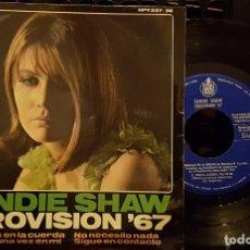 Discos de vinilo: SANDIE SHAW - EUROVISON 67 - MARIONETAS EN LA CUERDA +3. Lote 254268525