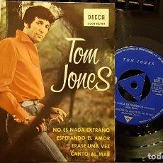 Discos de vinilo: TOM JONES - NO ES NADA EXTRAÑO. Lote 254272440