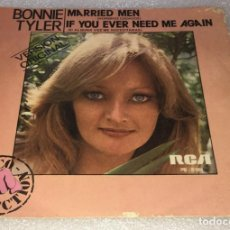 Discos de vinilo: SINGLE BONNIE TYLER - MARRIED MEN - IF YOU EVER NEED ME AGAIN - RCA VICTOR PB5164 -PEDIDO MINIMO 7€. Lote 254273490