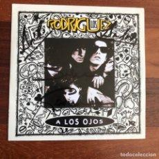 Discos de vinilo: OS RODRIGUEZ A LOS OJOS SINGLE VINILO 1991 CALAMARO ARIEL FIRMADO. Lote 254278800